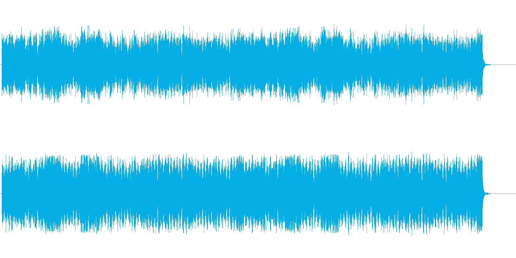 バイオリンによる現代音楽的戦闘対峙曲の再生済みの波形