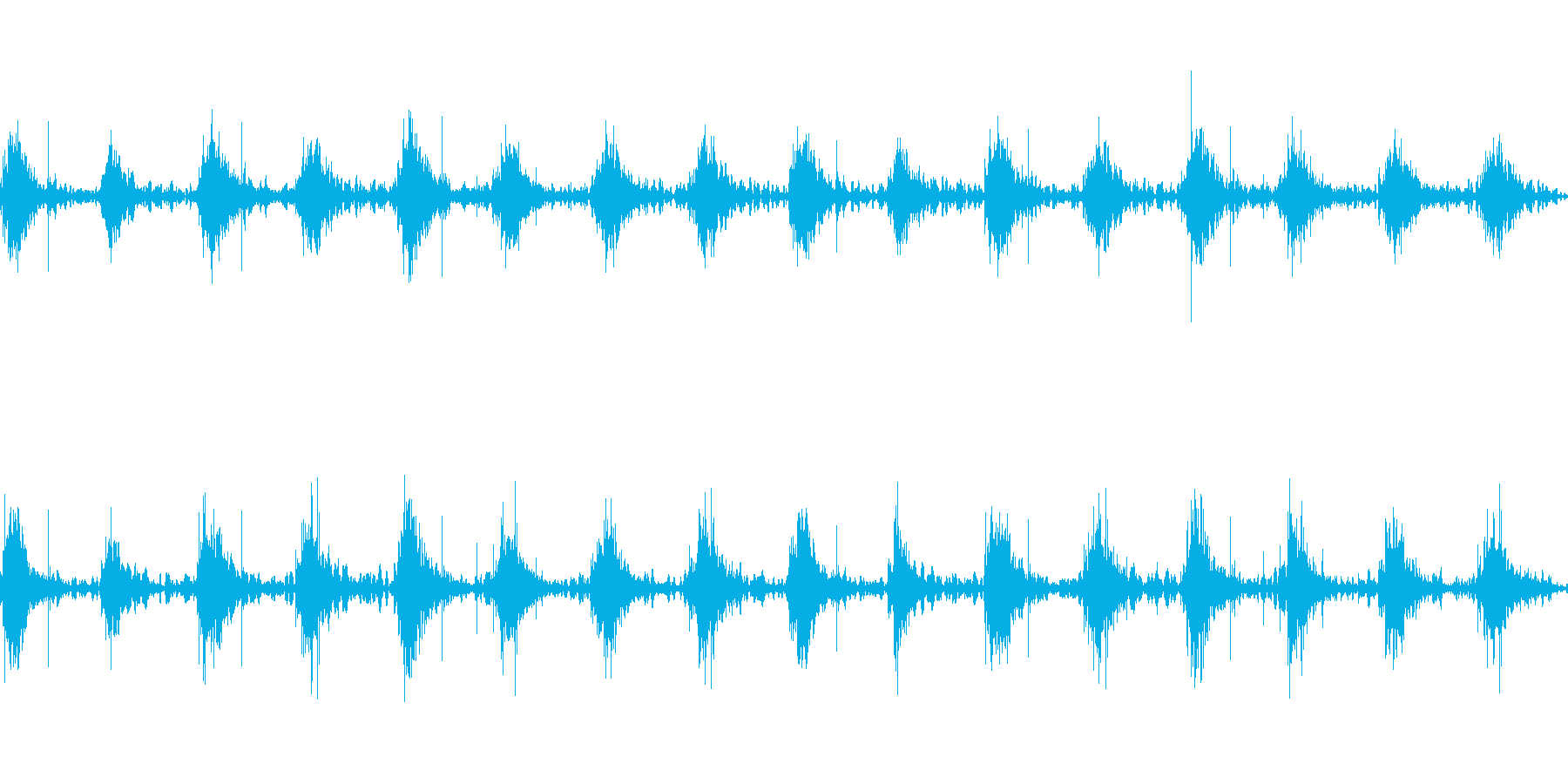 足音 行進の音(軍隊、兵隊、大人数等)5の再生済みの波形