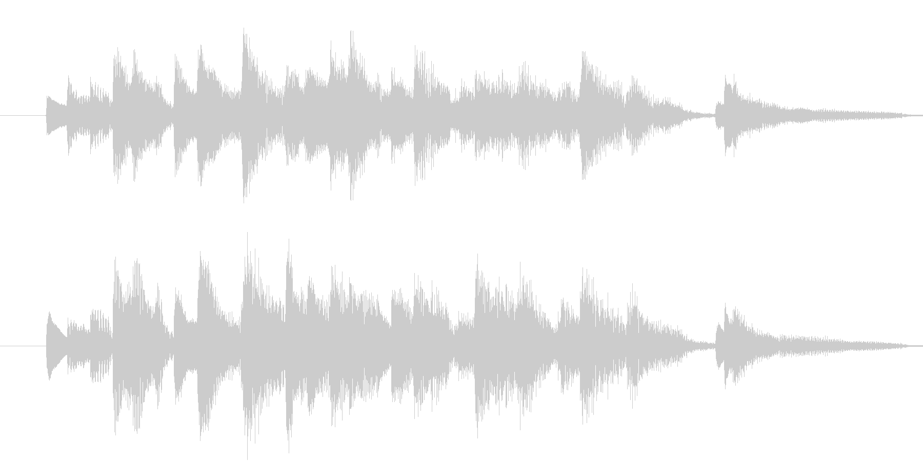 【生ピアノ】オチに使えるラグタイム風の未再生の波形