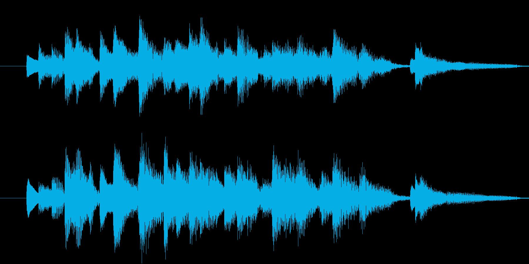 【生ピアノ】オチに使えるラグタイム風の再生済みの波形