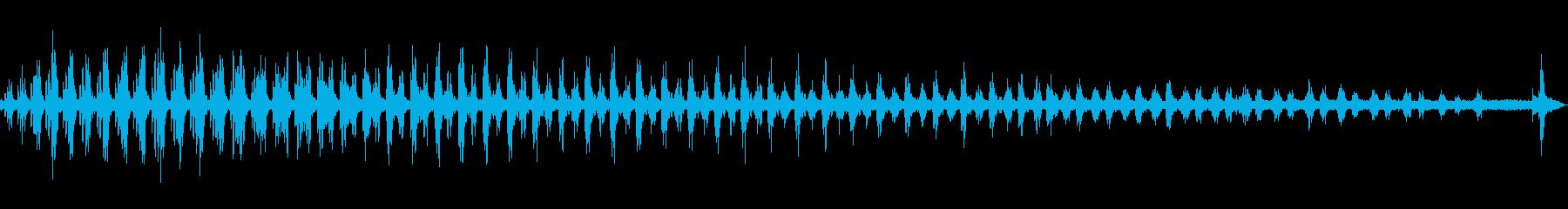 小綬鶏(コジュケイ)の鳴き声の再生済みの波形