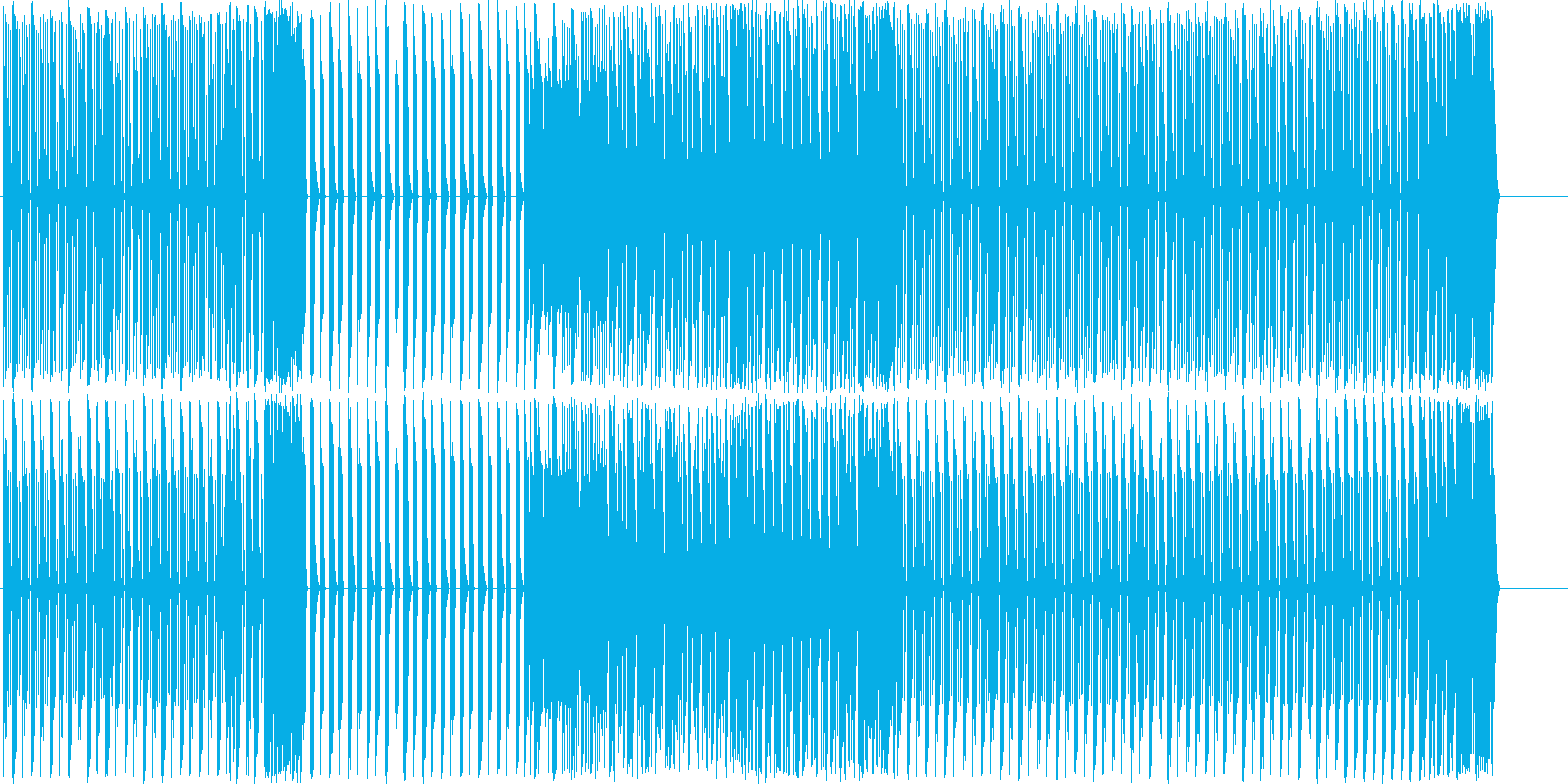 EDM/ドラム・ビートトラック#5の再生済みの波形