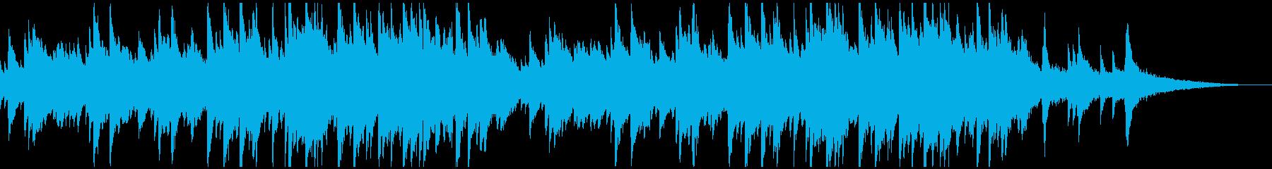 シリアスなピアノメインの曲の再生済みの波形