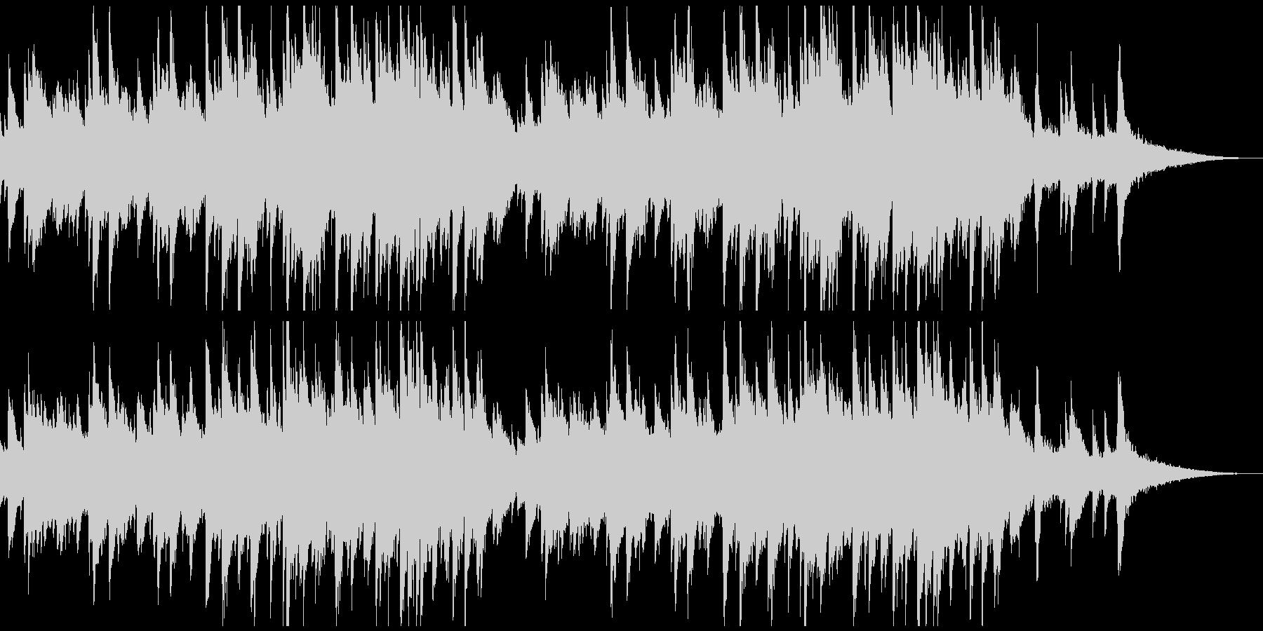 シリアスなピアノメインの曲の未再生の波形