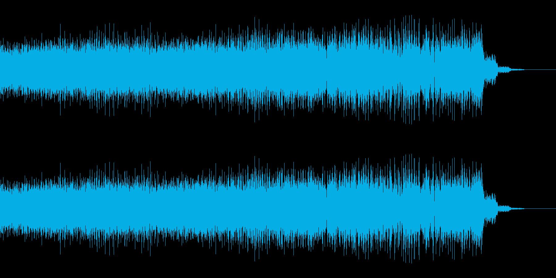 ビリビリとしびれるようなチャージ音の再生済みの波形