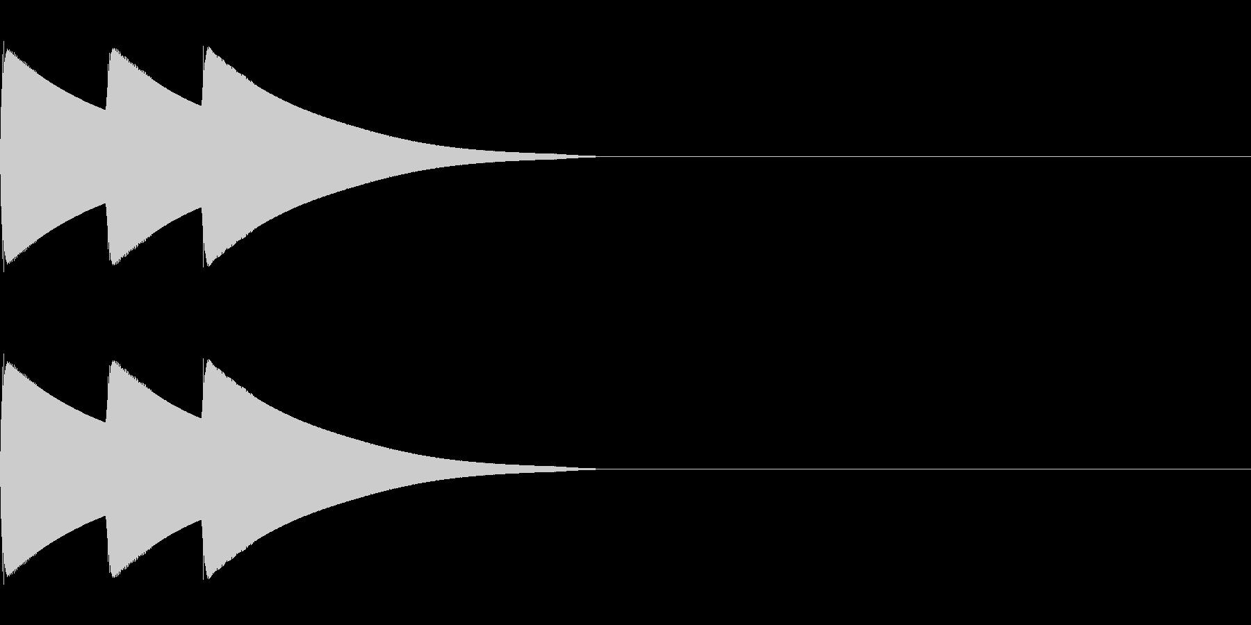 ボタン、クリック、アイテム獲得(中音域)の未再生の波形