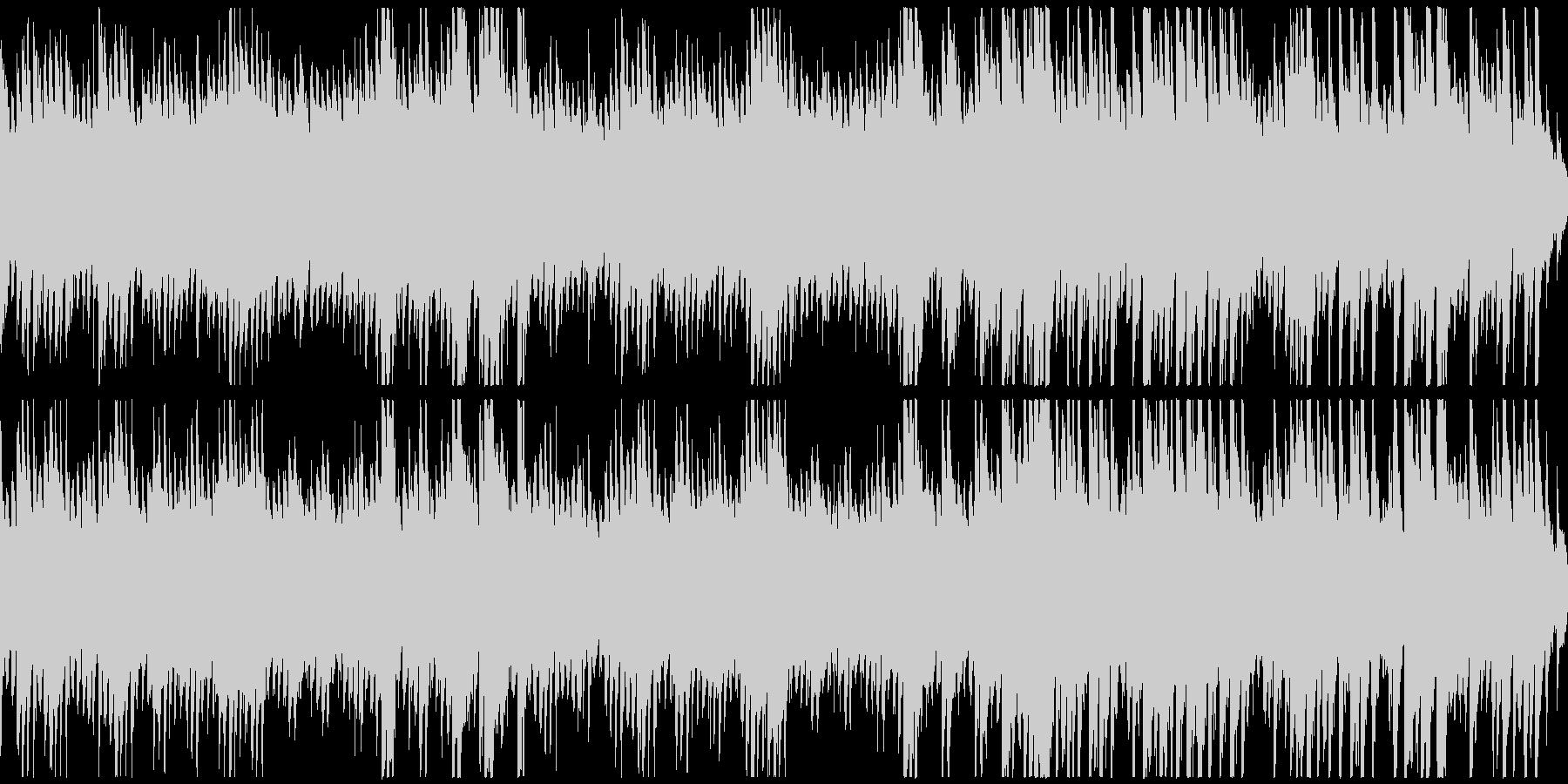 時間がゆっくり過ぎていくようなピアノ曲の未再生の波形