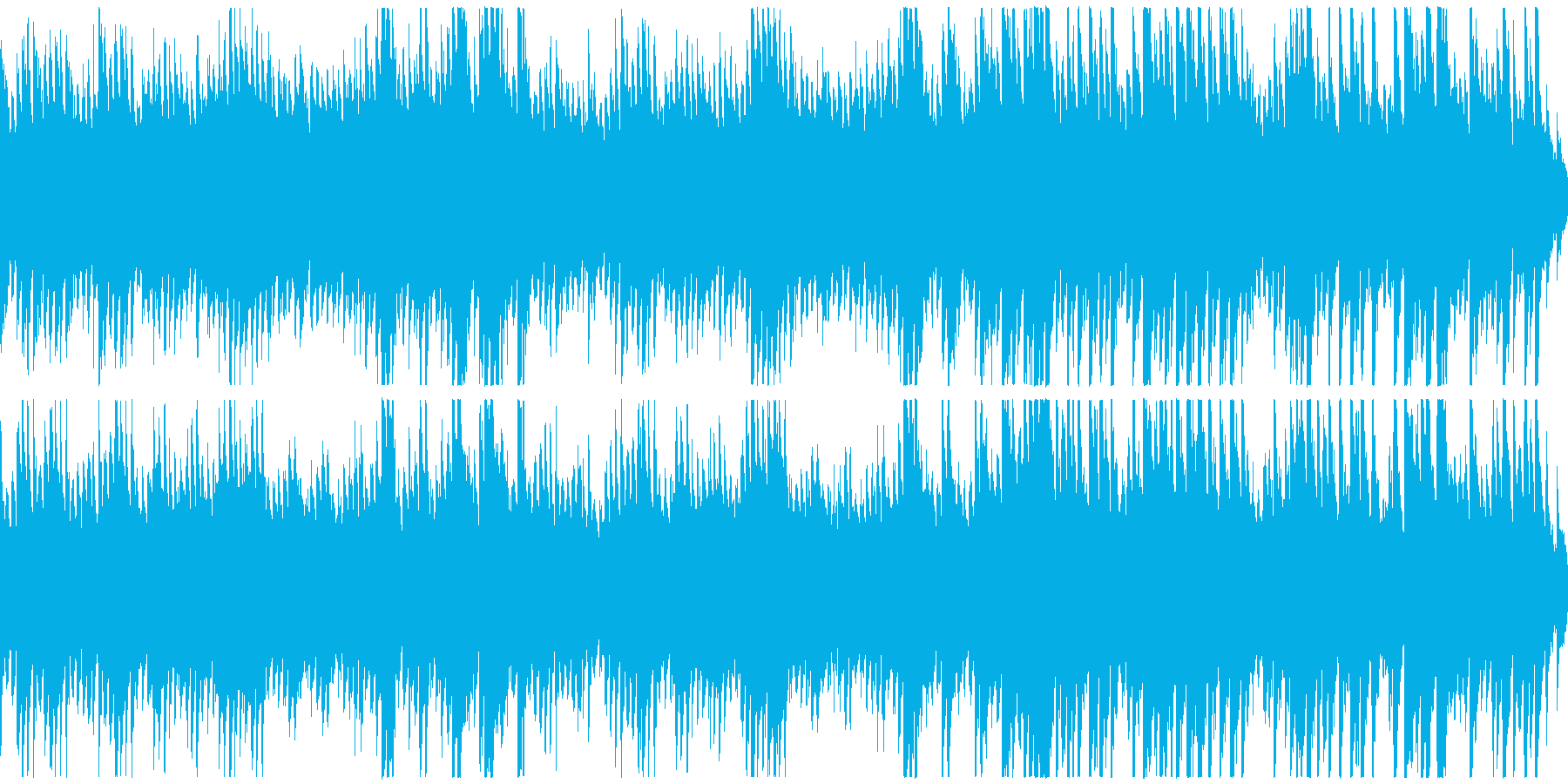 時間がゆっくり過ぎていくようなピアノ曲の再生済みの波形