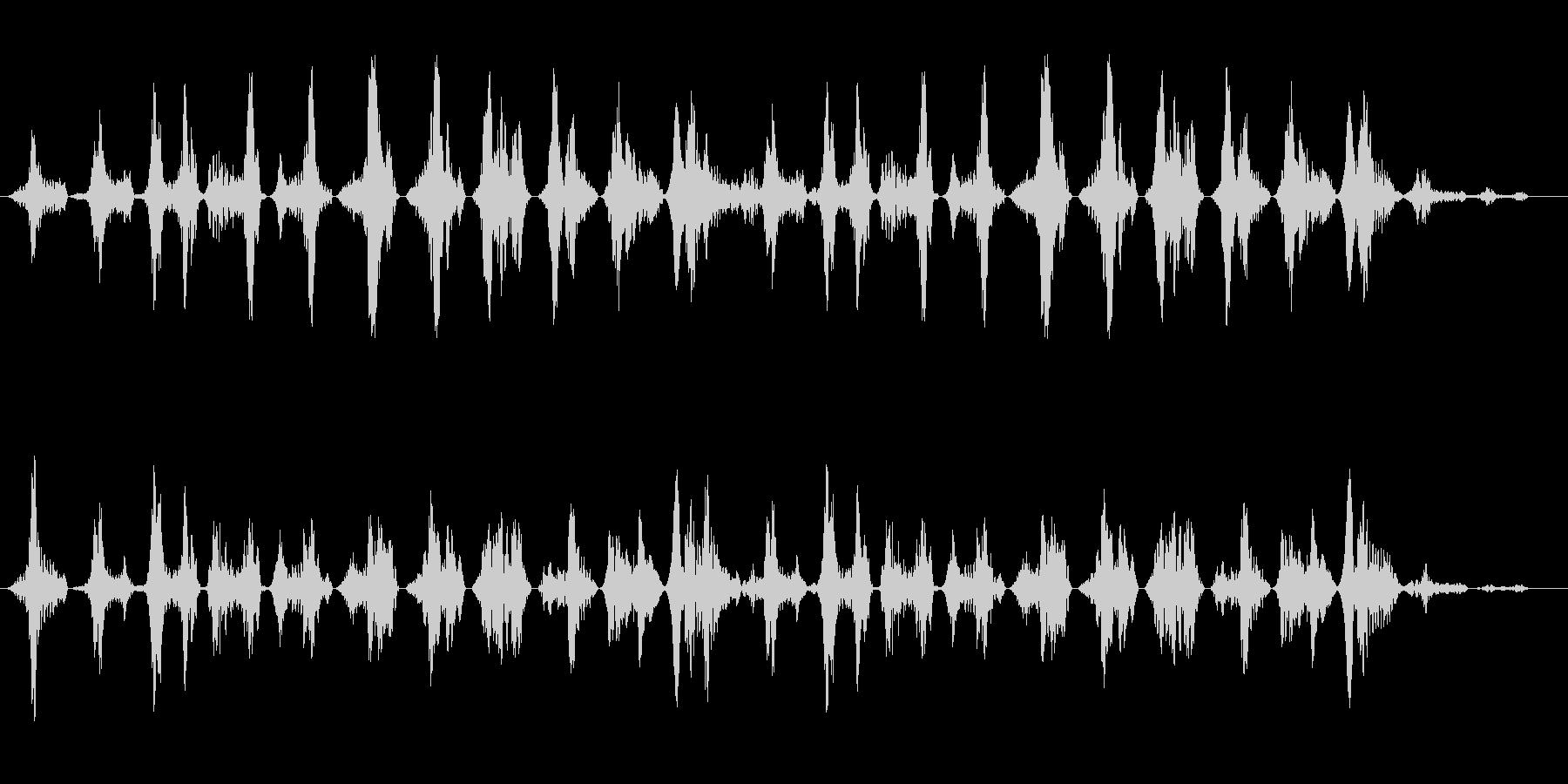 コミカル飛行音(不安定)の未再生の波形