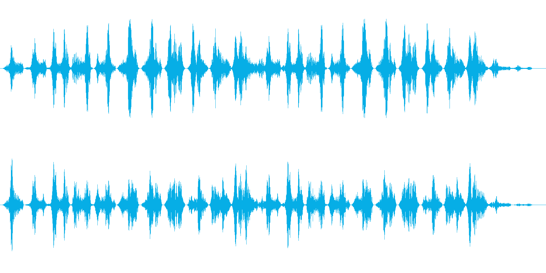 コミカル飛行音(不安定)の再生済みの波形