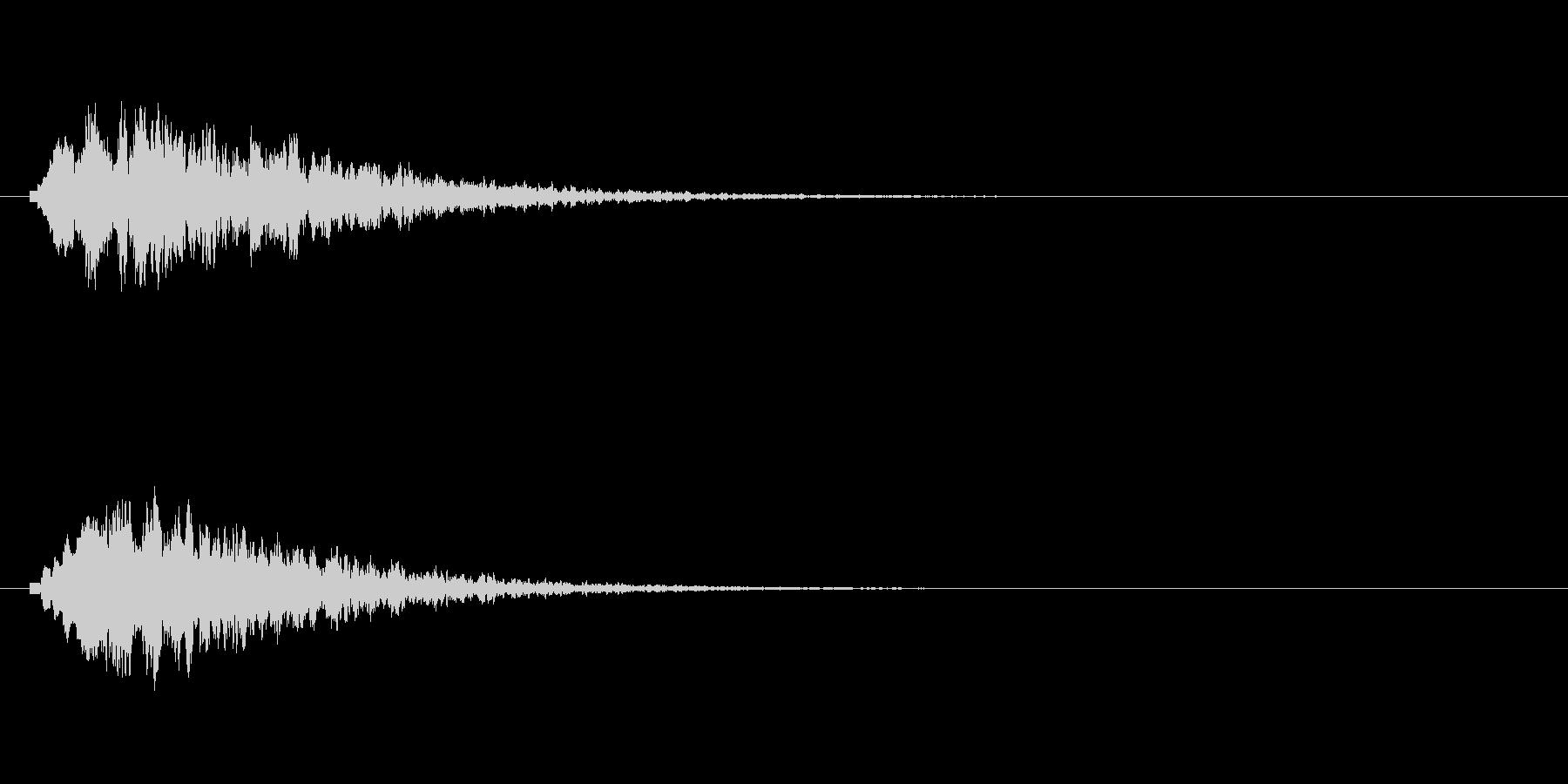 キラリン(光る音、輝く音、星の流れる音)の未再生の波形