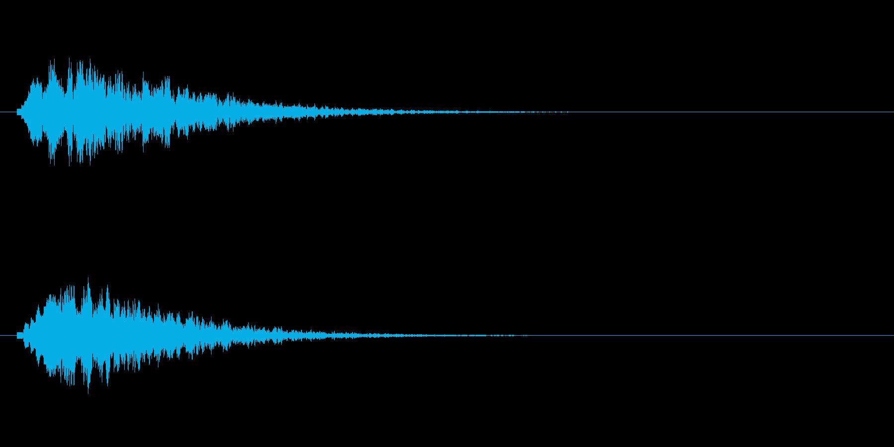 キラリン(光る音、輝く音、星の流れる音)の再生済みの波形