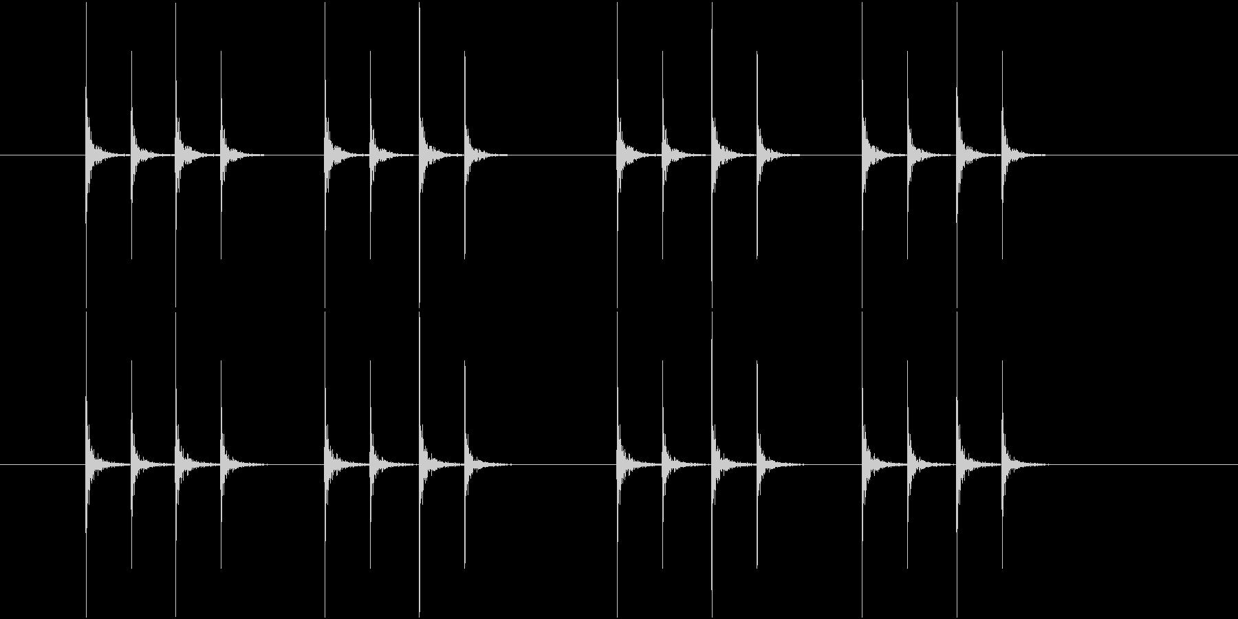 コンコンコンコン、連続したノック音-04の未再生の波形