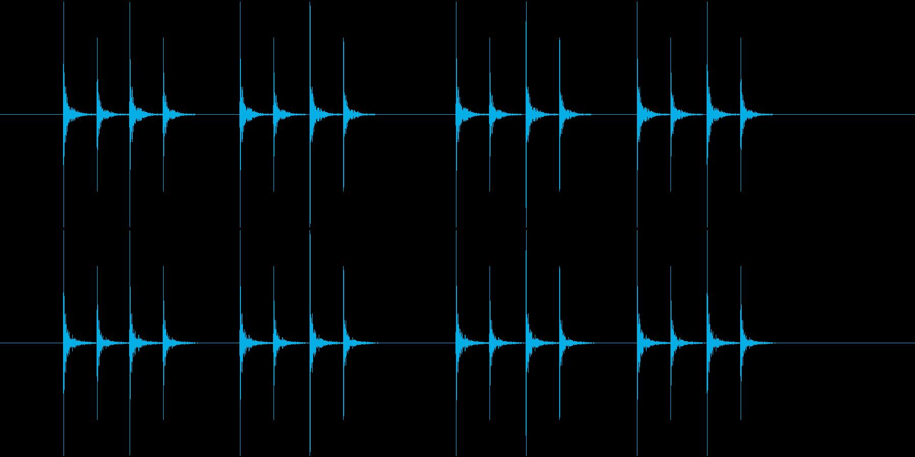 コンコンコンコン、連続したノック音-04の再生済みの波形