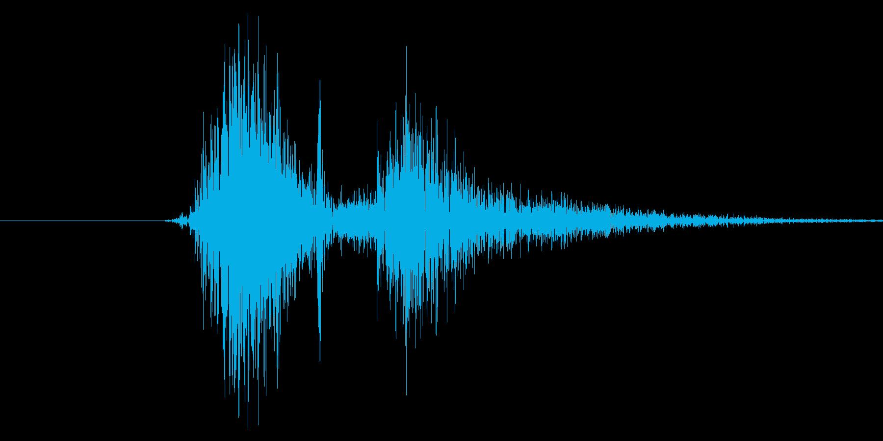 ダン。銃の発射音です。の再生済みの波形