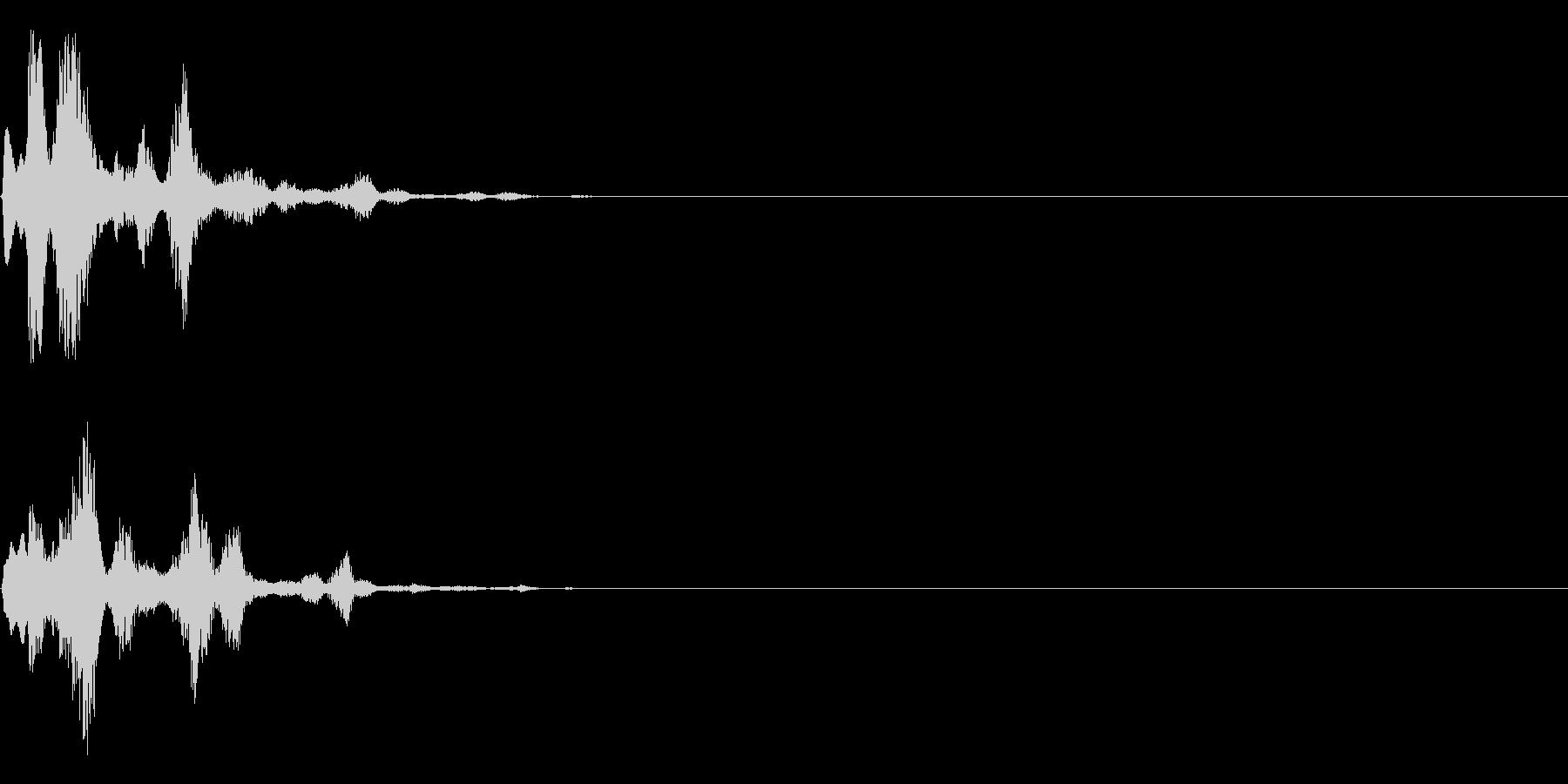 システム音(決定、スタート)の未再生の波形
