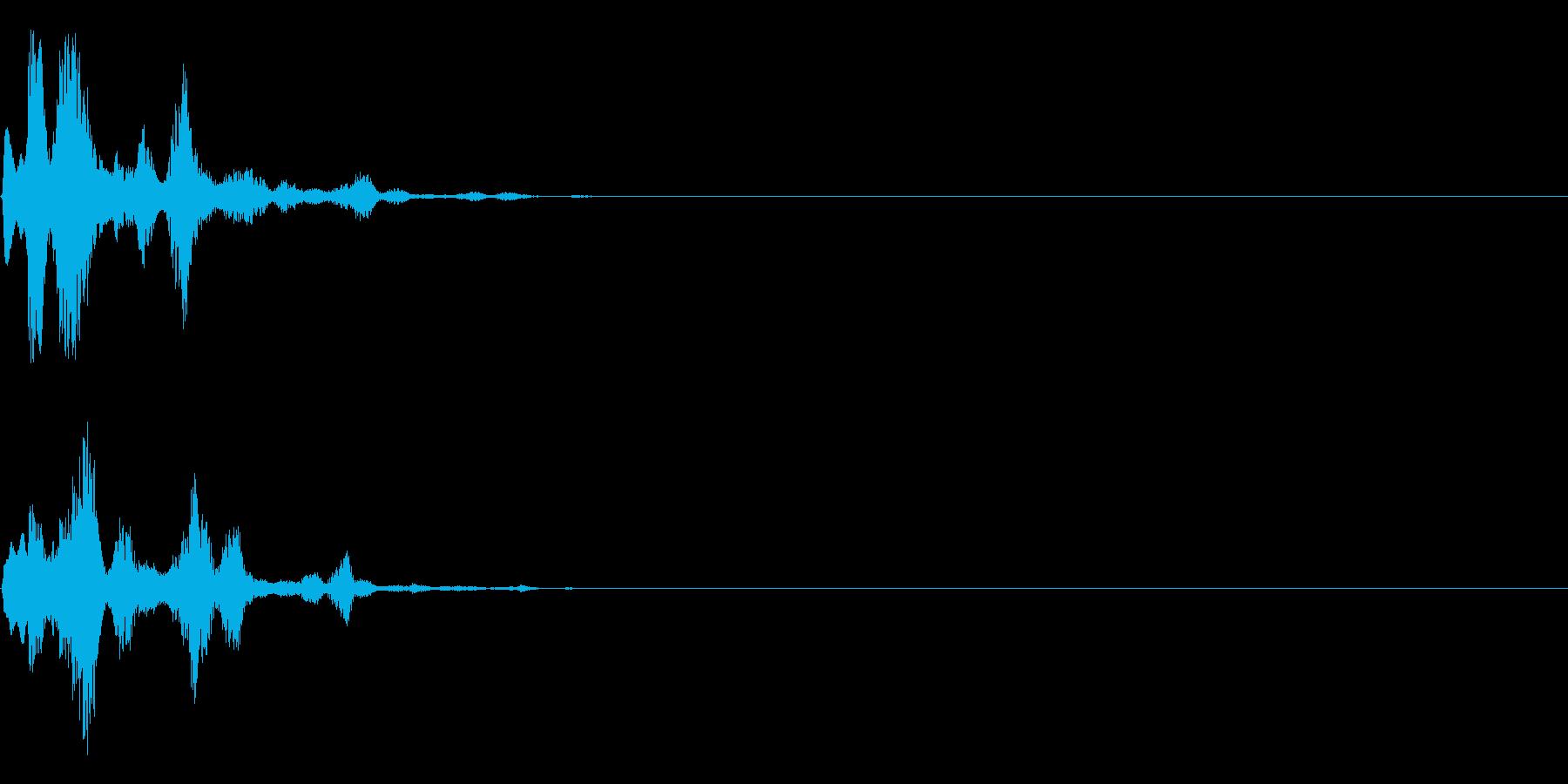 システム音(決定、スタート)の再生済みの波形