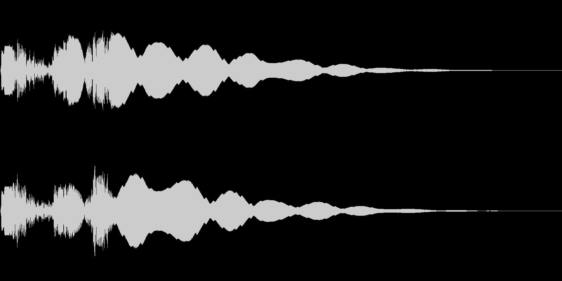 ボタン押下や決定音_ピュルキーン!の未再生の波形