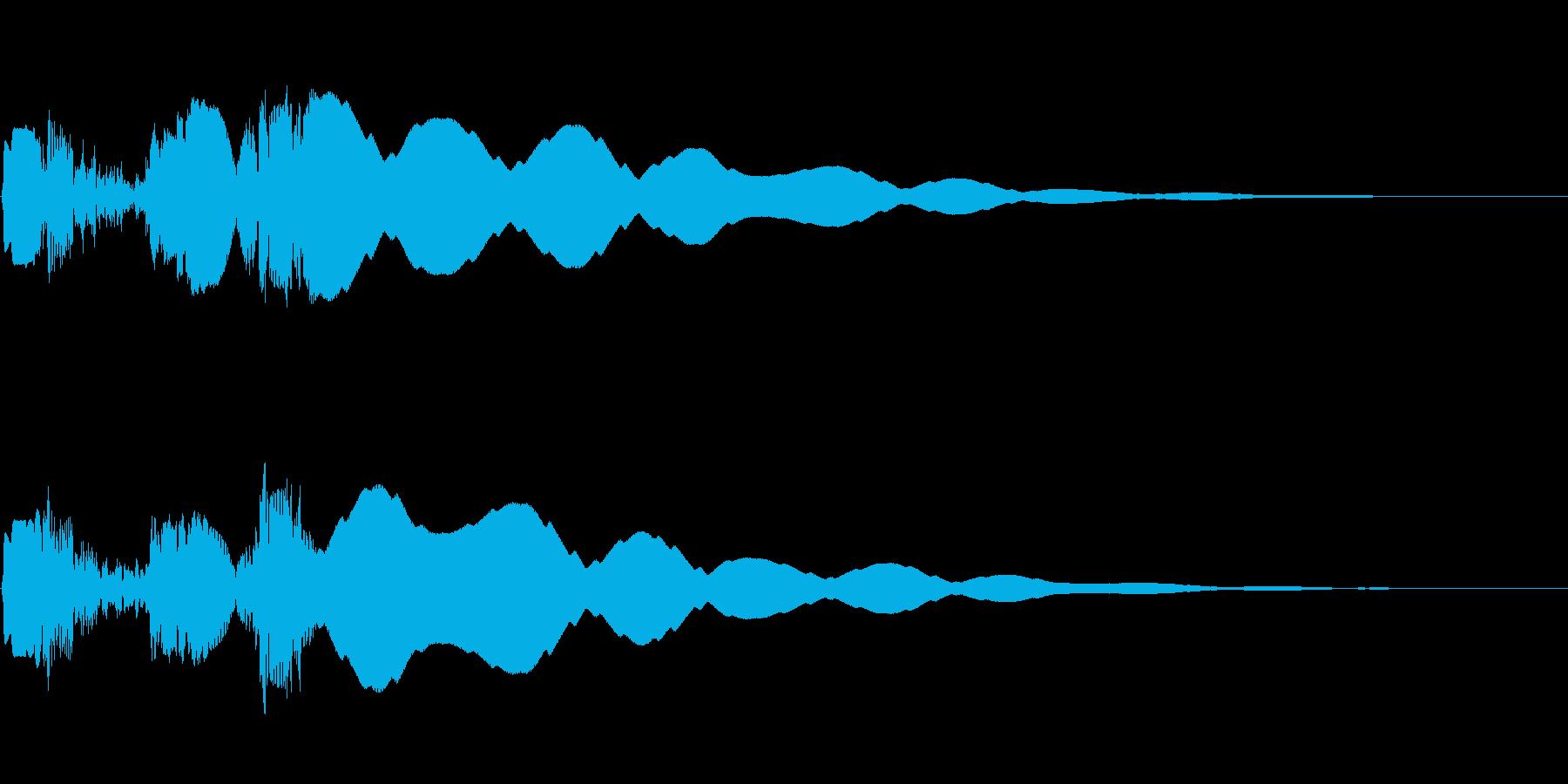 ボタン押下や決定音_ピュルキーン!の再生済みの波形