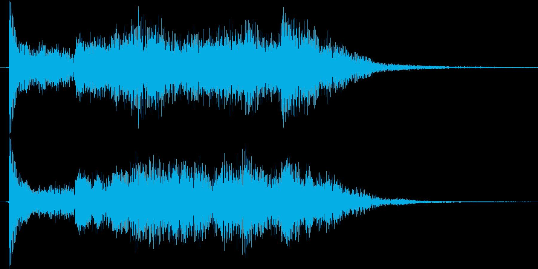 番組スタートの再生済みの波形