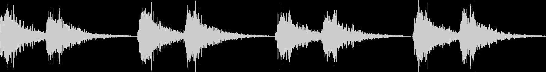 アラーム 時報 警告 着信  ループの未再生の波形