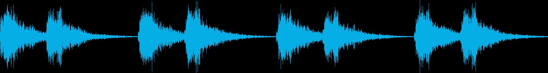 アラーム 時報 警告 着信  ループの再生済みの波形