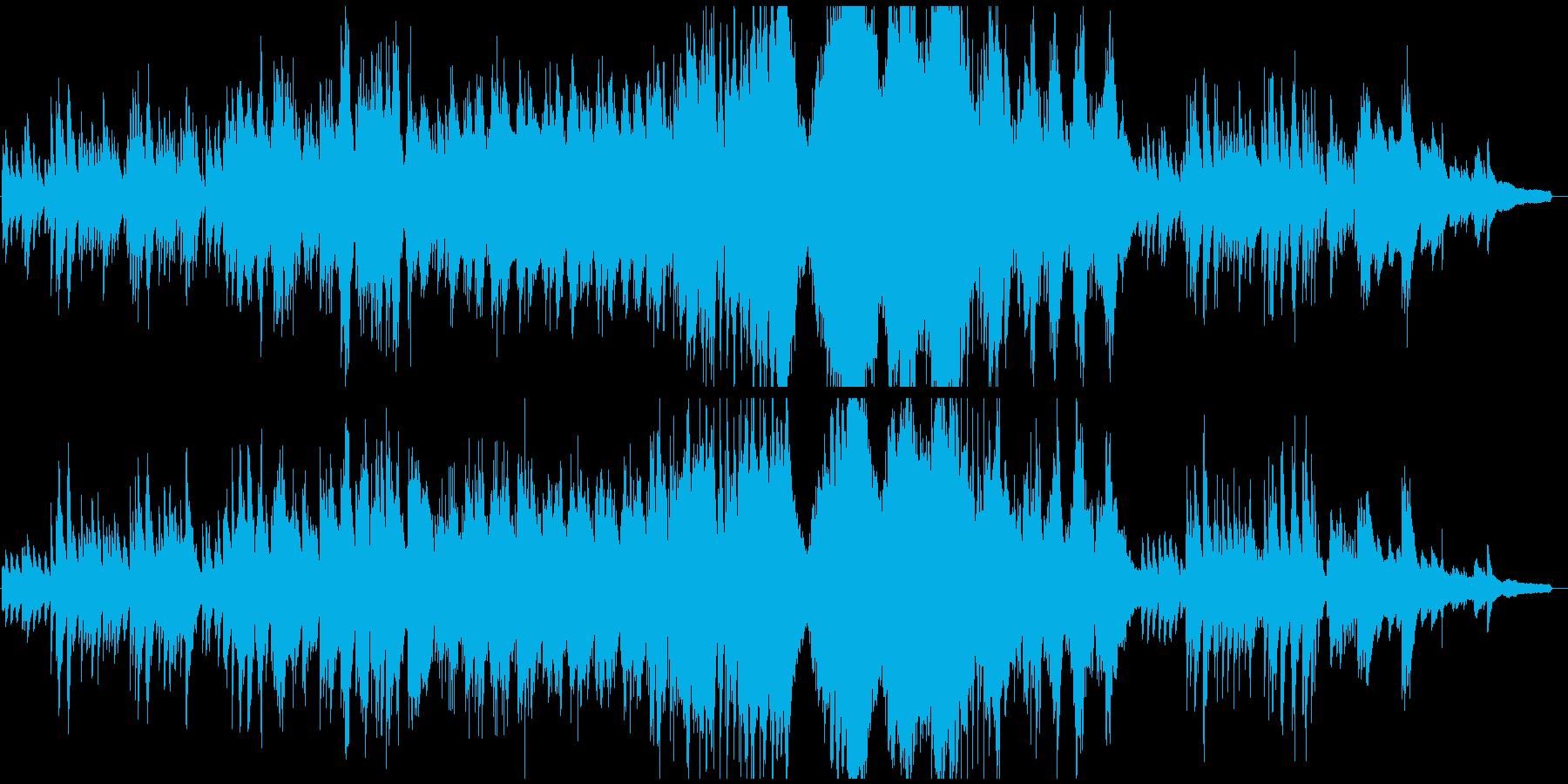 クラシカルな雰囲気の悲しげなピアノソロの再生済みの波形