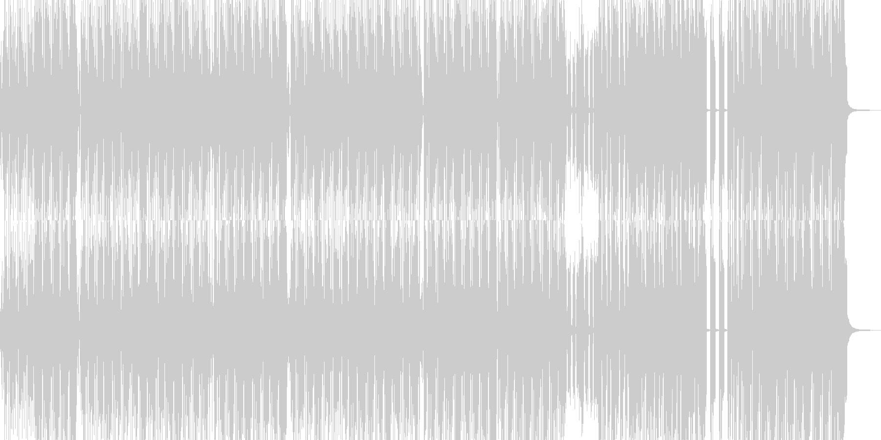 派手でマッスルなヒップホップの未再生の波形