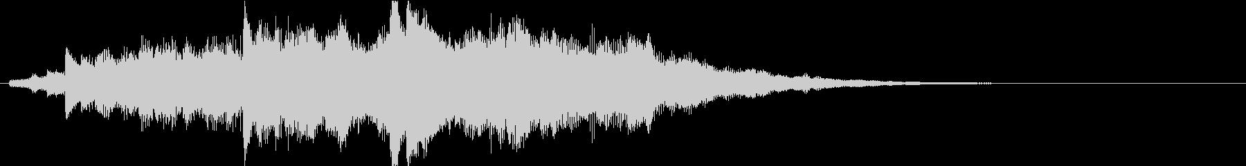 鮮やかなピアノのサウンドロゴの未再生の波形