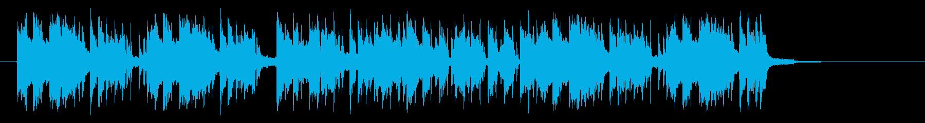 ミディアムテンポの不思議なシンセジングルの再生済みの波形