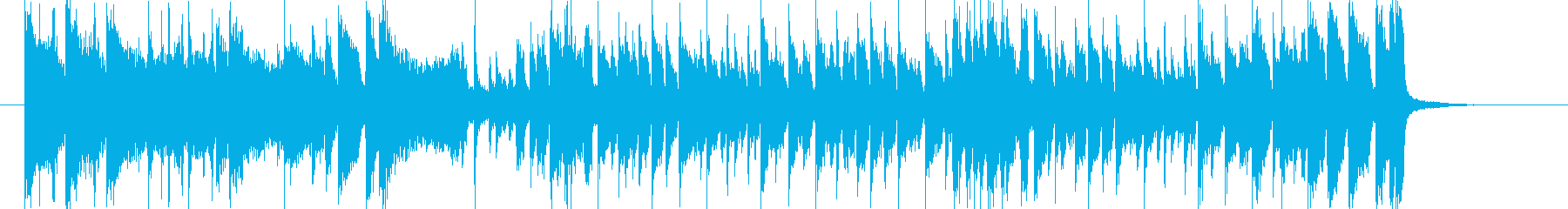 勢いある緩やかなポップジングルの再生済みの波形