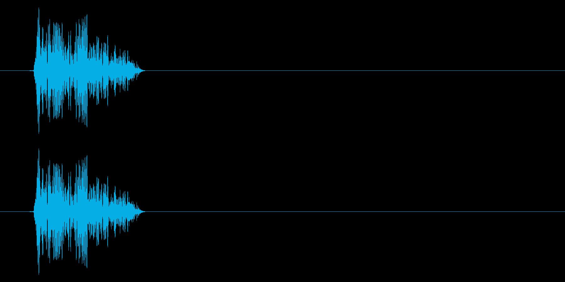 GEN-格闘01-12(倒れる)の再生済みの波形
