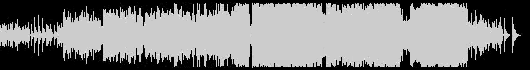 癒しアコギから始まる3拍子ロックバラードの未再生の波形