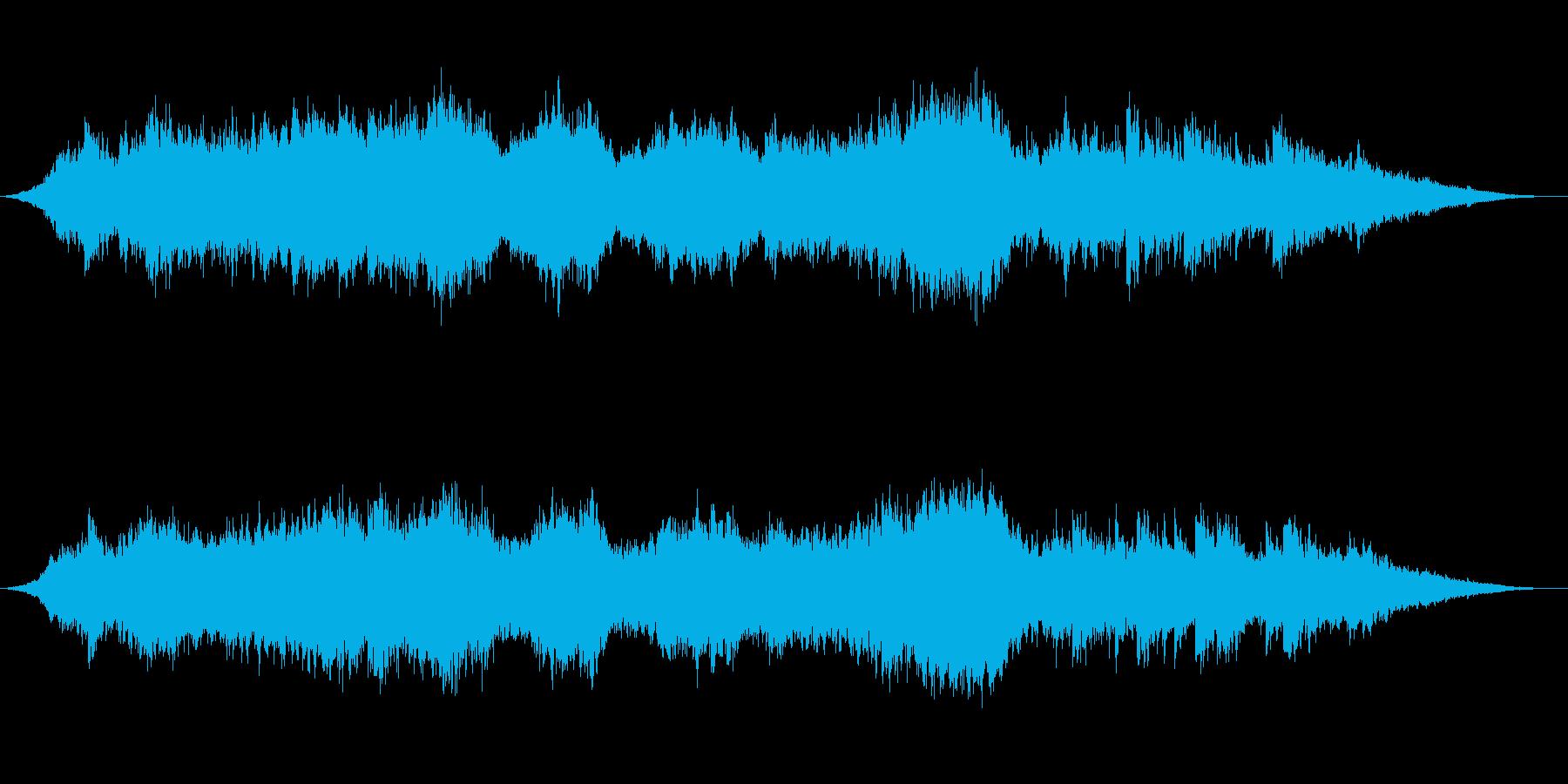 神秘的な雰囲気のアンビエント背景音11の再生済みの波形