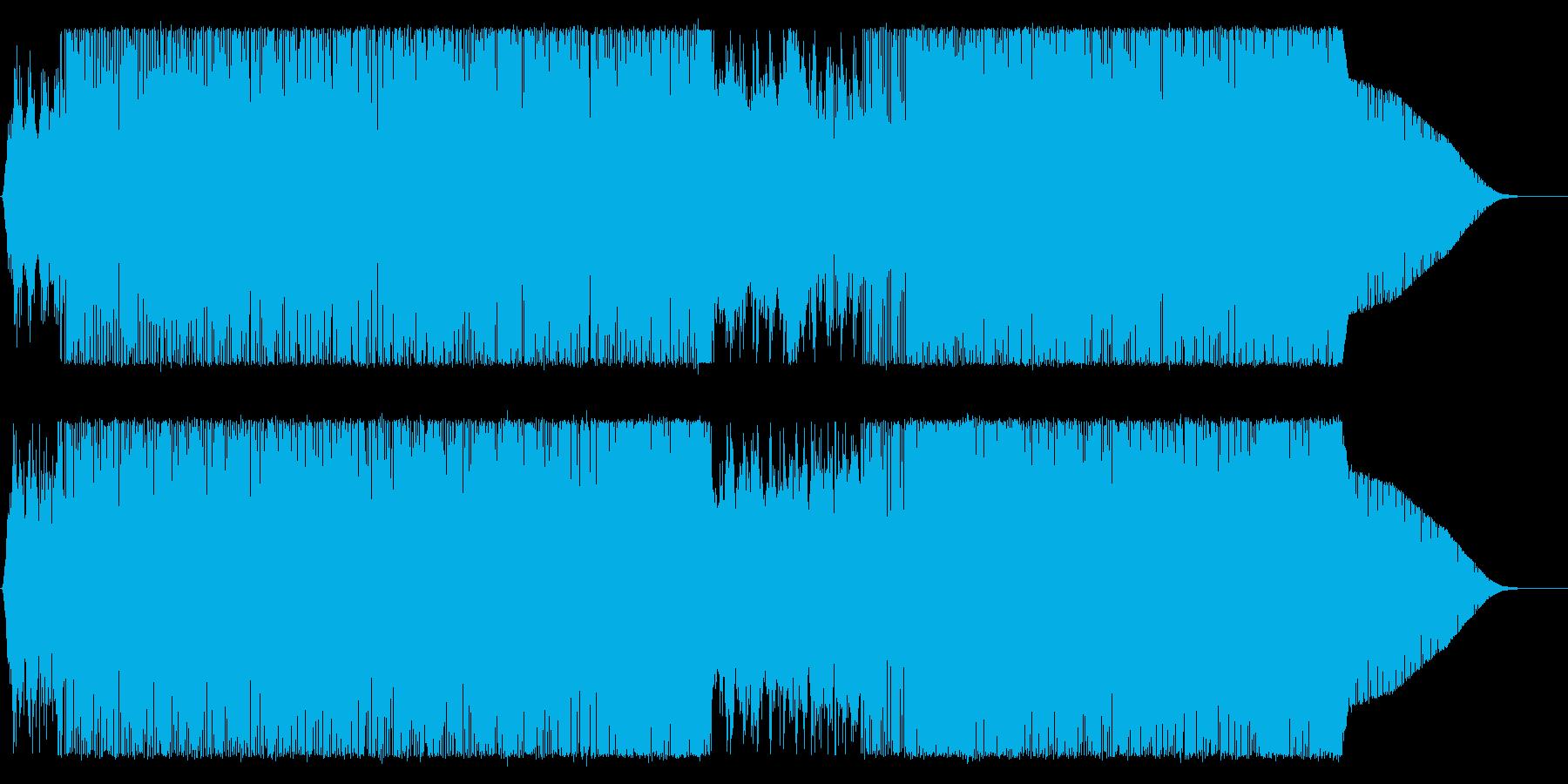 Fusion系ハードボイルド映像BGM等の再生済みの波形