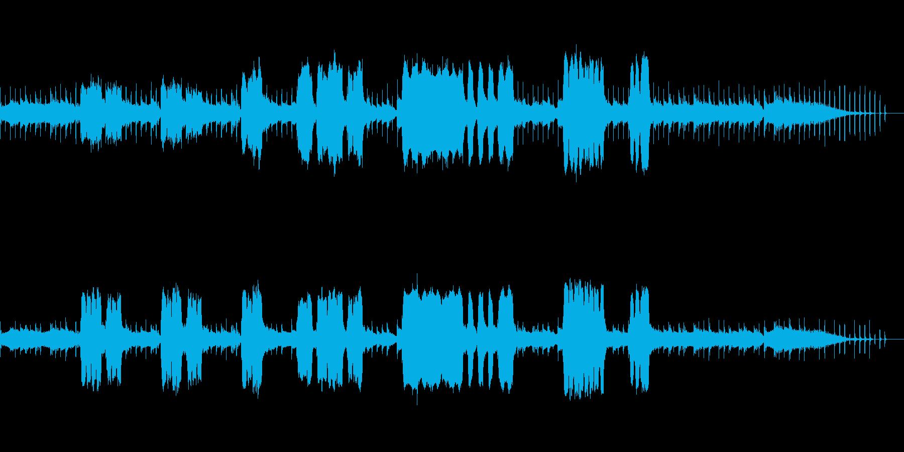ギターとフルートの穏やかなボサノヴァの再生済みの波形