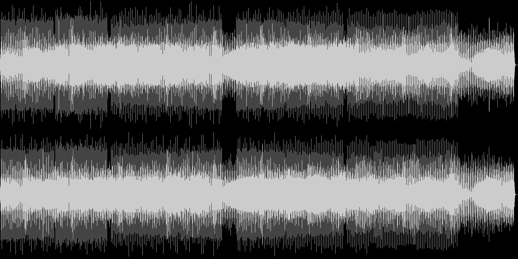 トライバルなテックハウスの未再生の波形