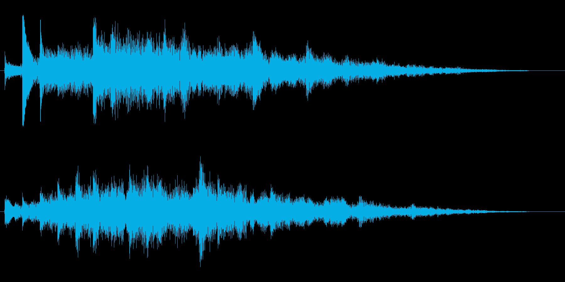 せせらぎのキラメキの再生済みの波形