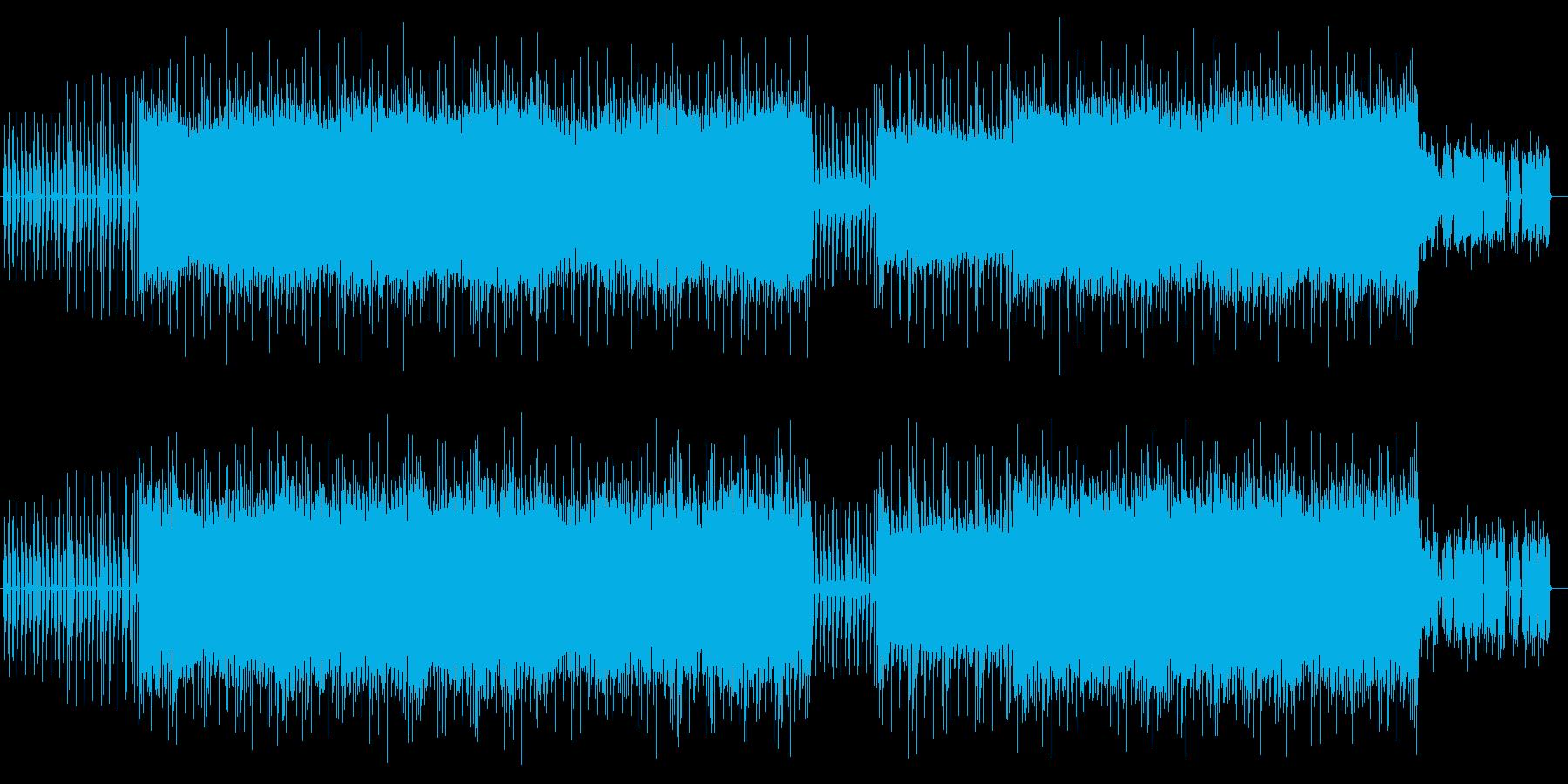 穏やかで緩やかなシンセサウンドの再生済みの波形