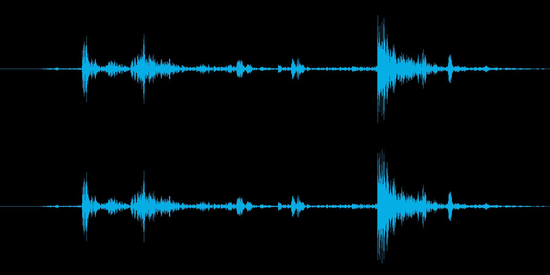 カチャ1(道具を出す)の再生済みの波形