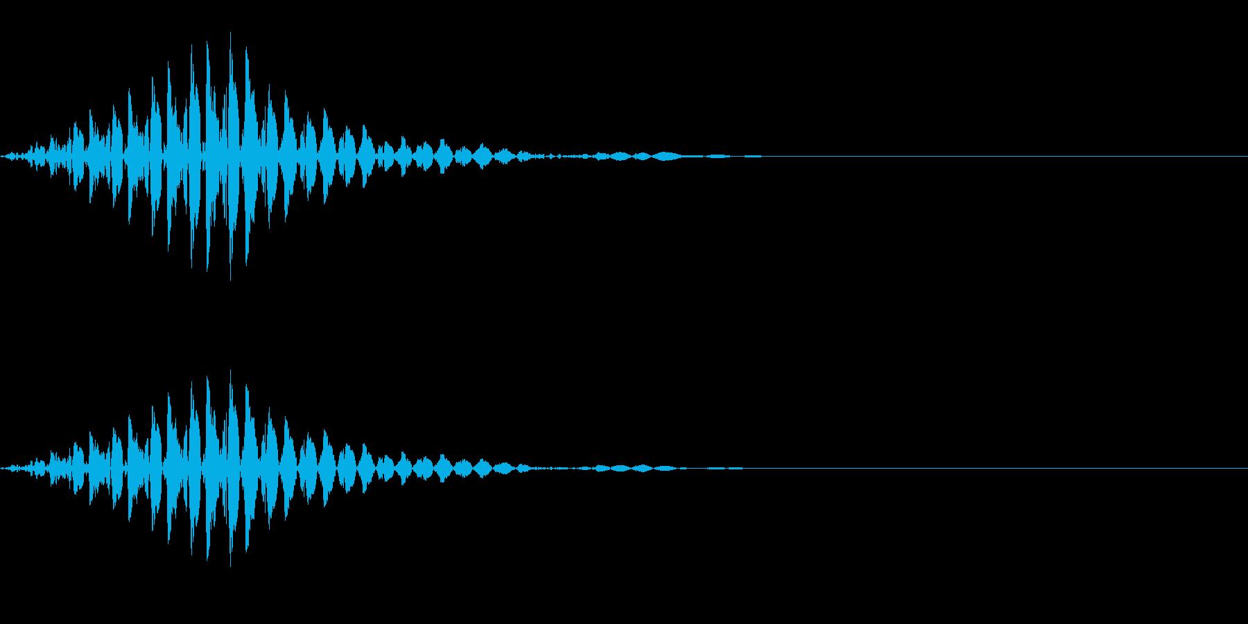 ブッ(不正解/エラー/不可)の再生済みの波形