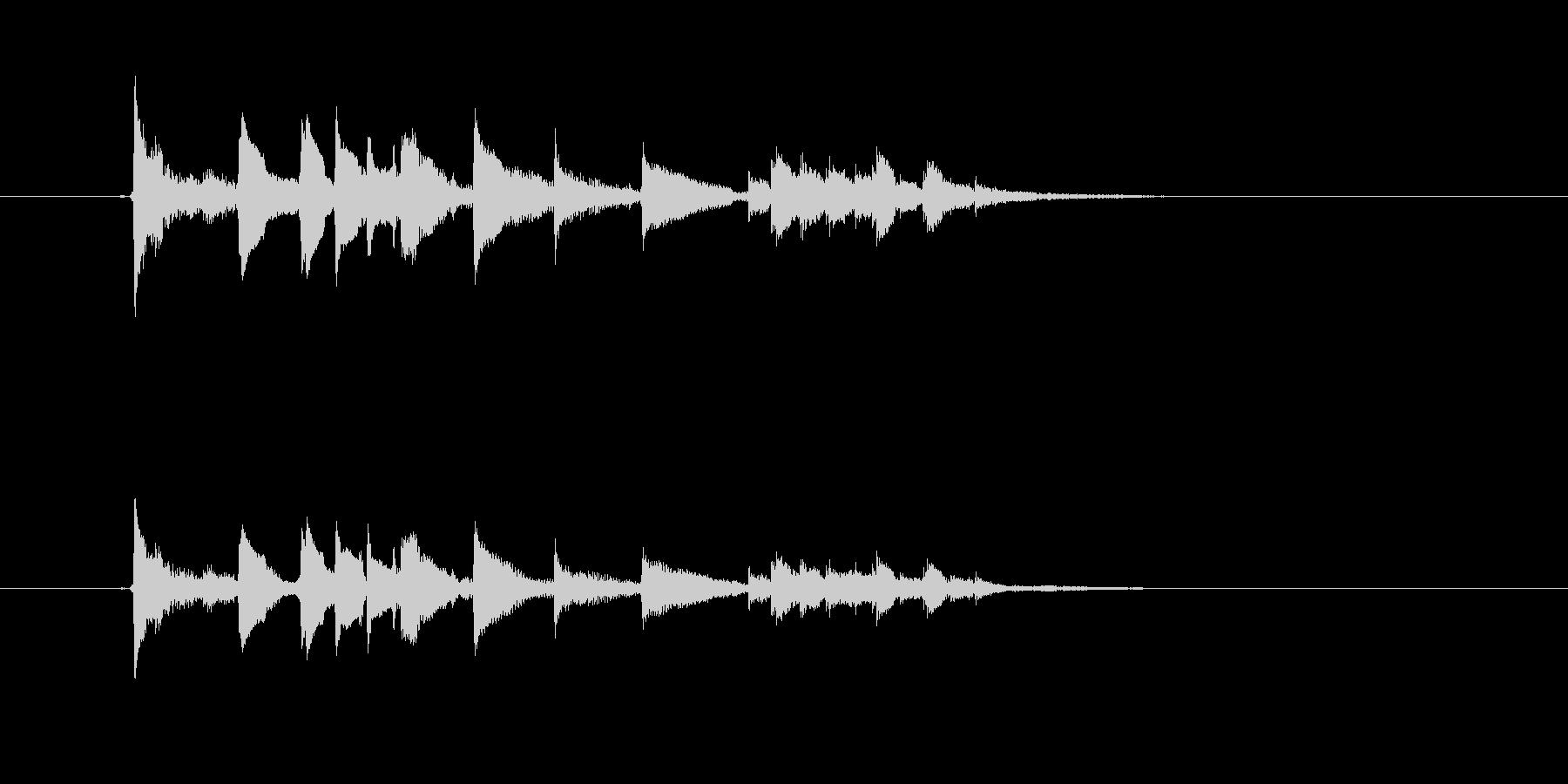 美しいギター音(弦、弾く)の未再生の波形
