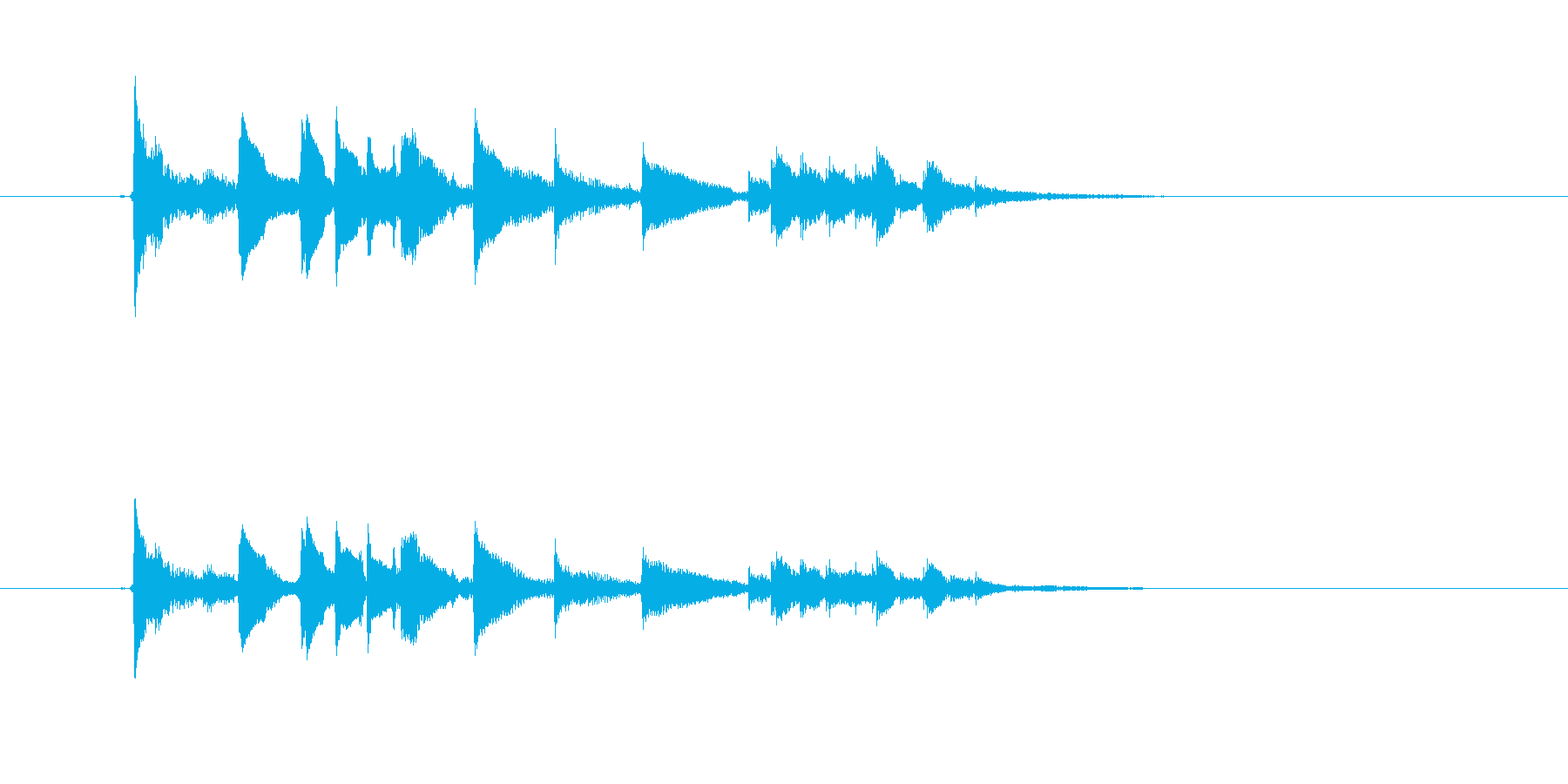 美しいギター音(弦、弾く)の再生済みの波形