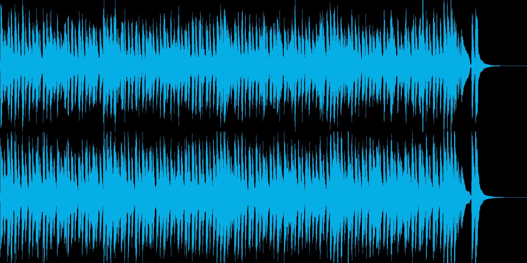 子供用のわんぱくな雰囲気のマーチBGMの再生済みの波形