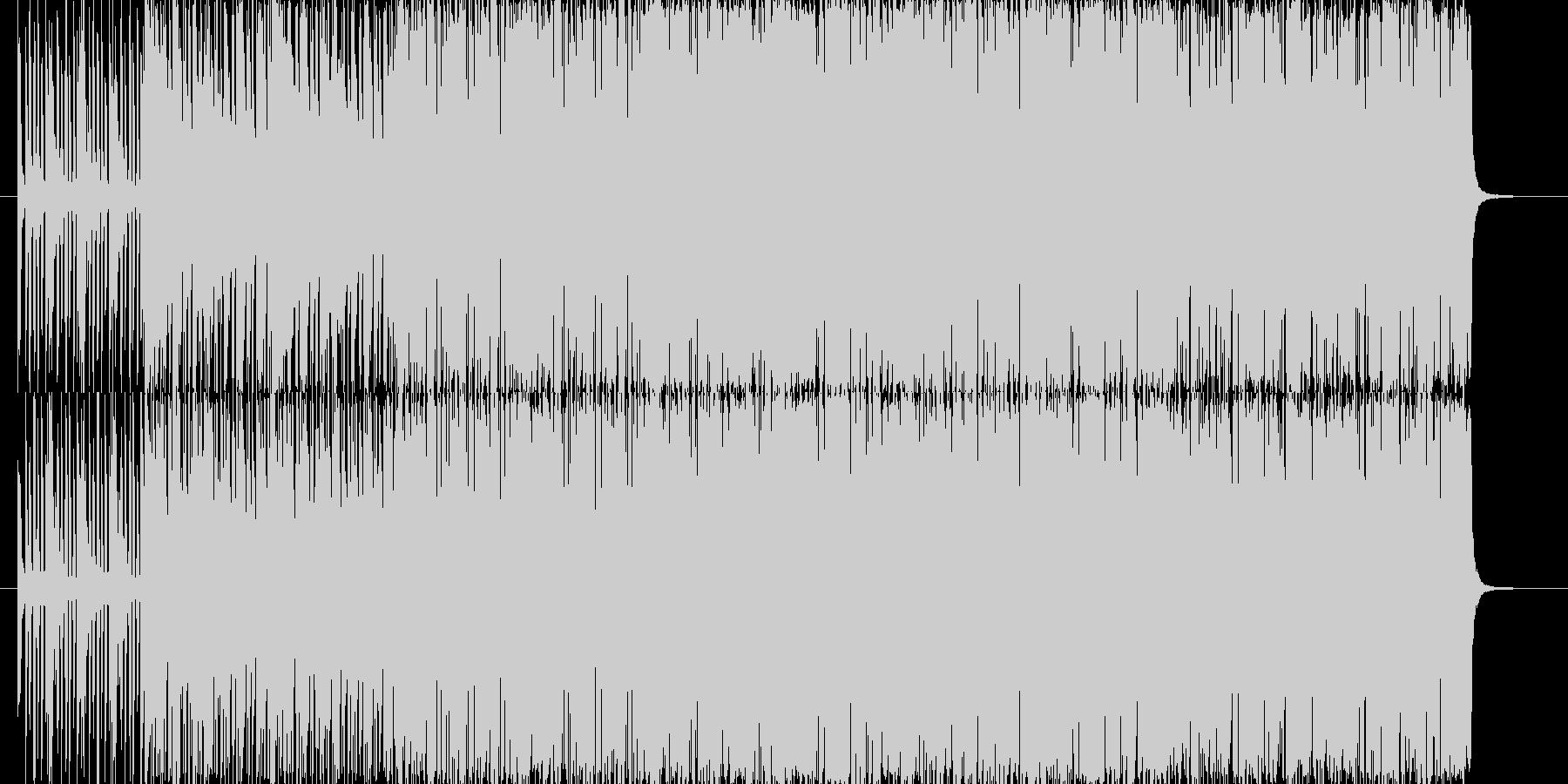 リズミカルなレゲェヴォーカルサウンドの未再生の波形
