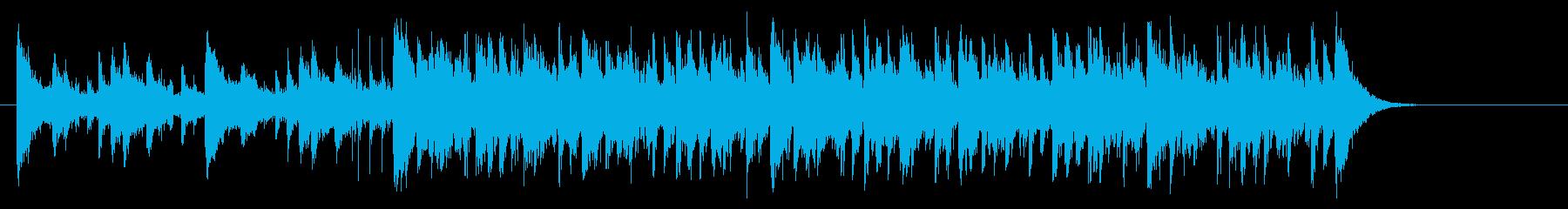 和やかで楽しいリラクゼーション音楽の再生済みの波形
