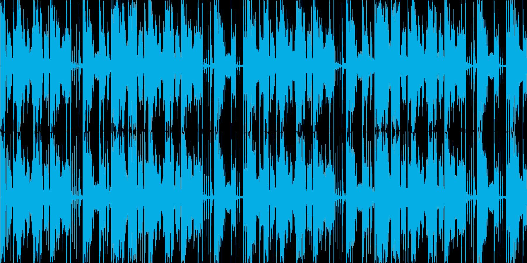 スクリレックス風ジングルの再生済みの波形