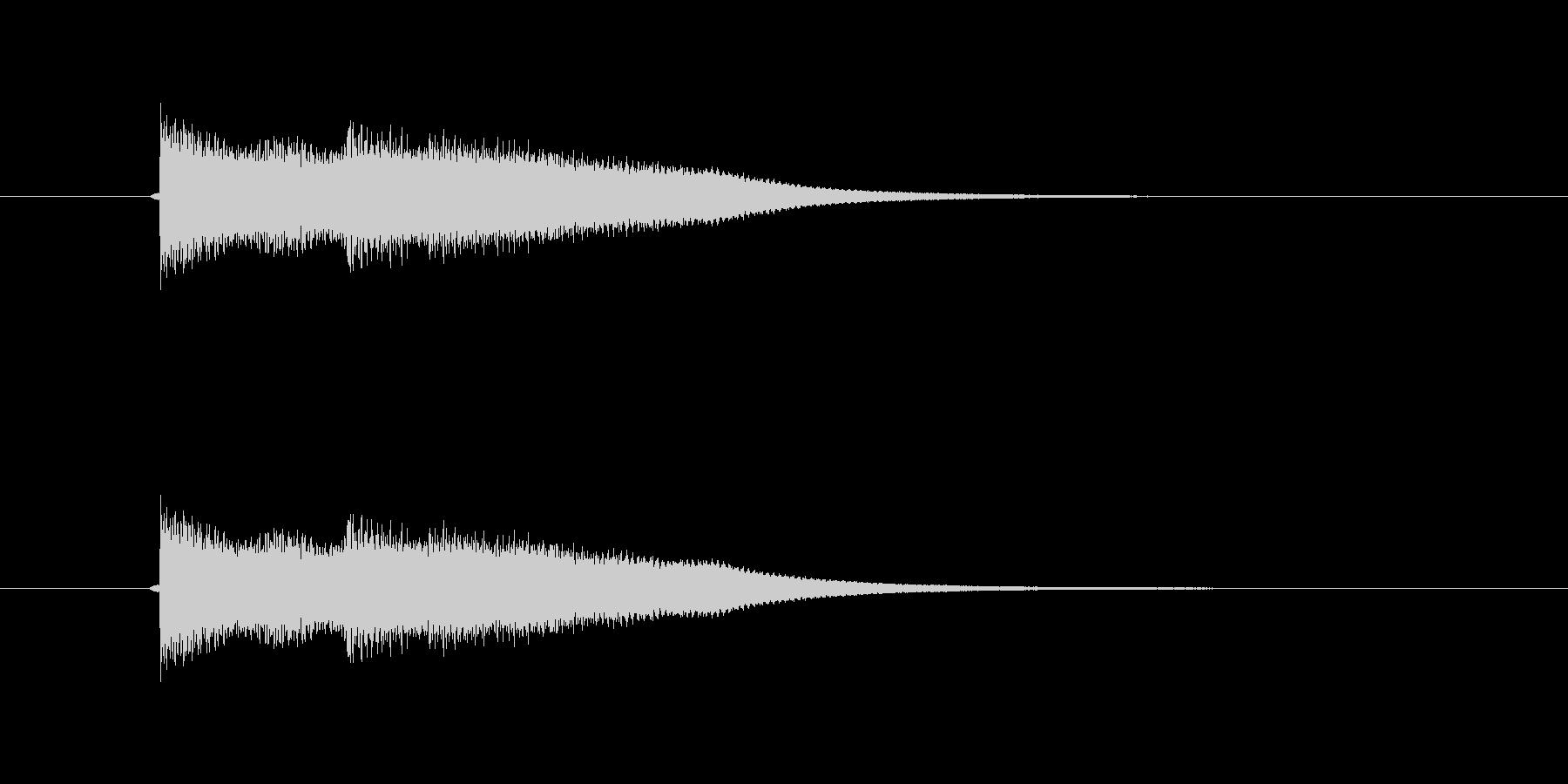 キュピーン キラーンの未再生の波形