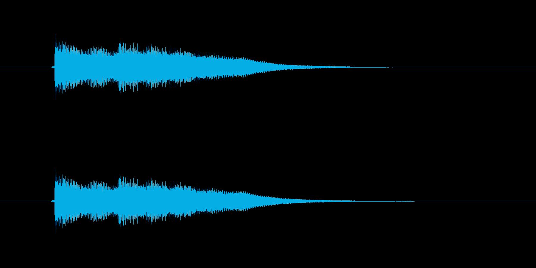 キュピーン キラーンの再生済みの波形