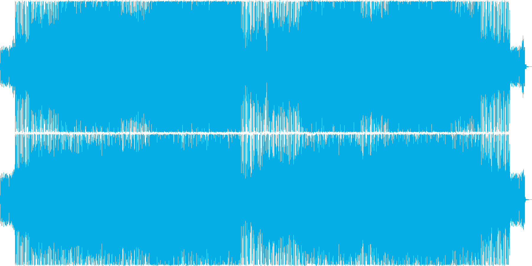 ブリティッシュロック。トレモロギターの再生済みの波形